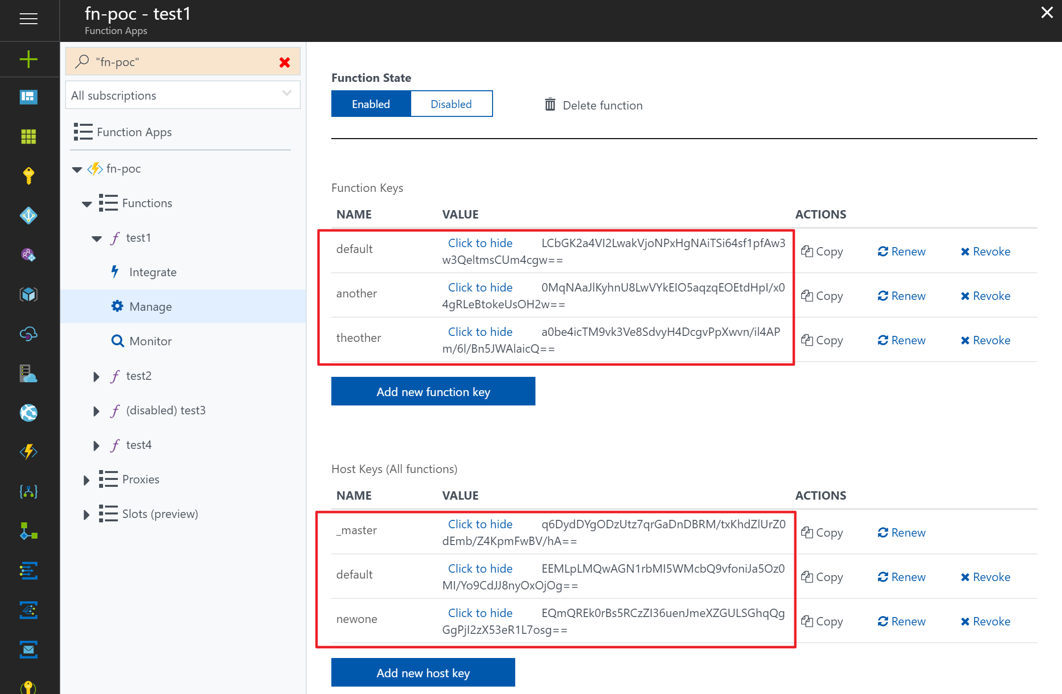 Dynamic Access to Azure Functions Keys without KUDU Dependencies