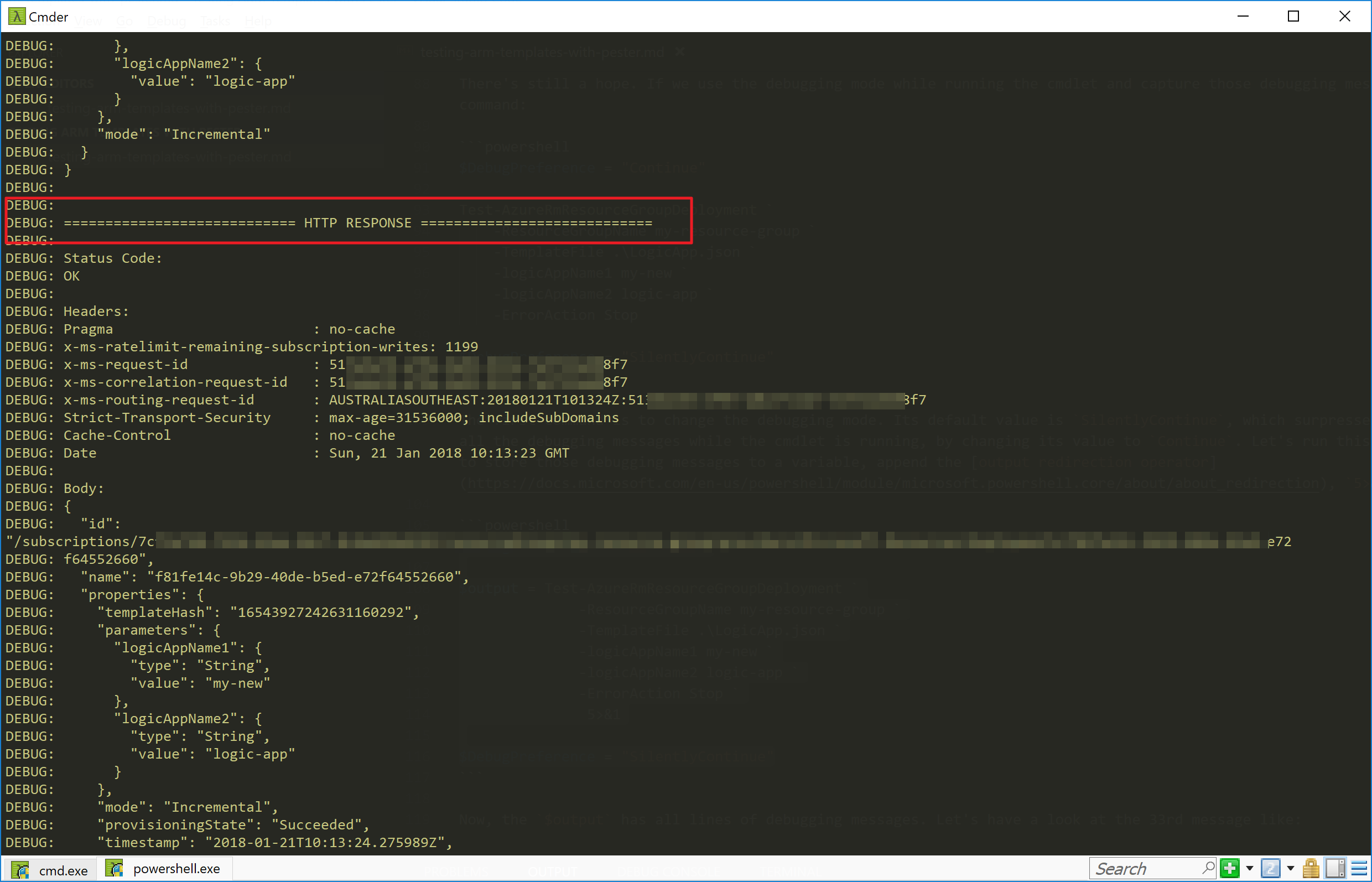 Testing Arm Templates With Pester 1 Powershell