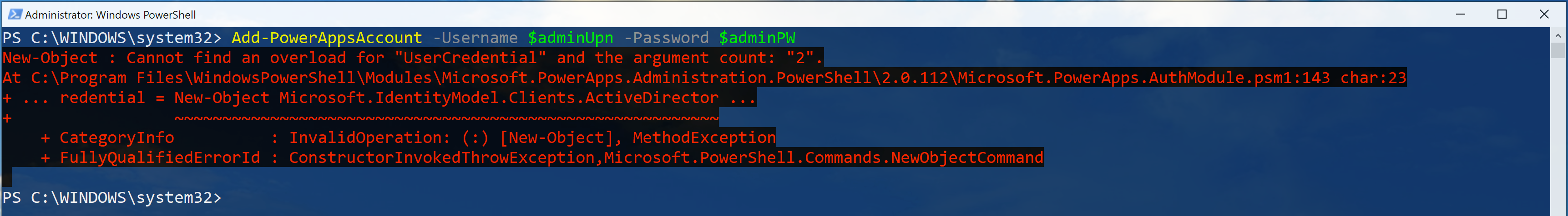 Unable to Login to Power Apps Environment