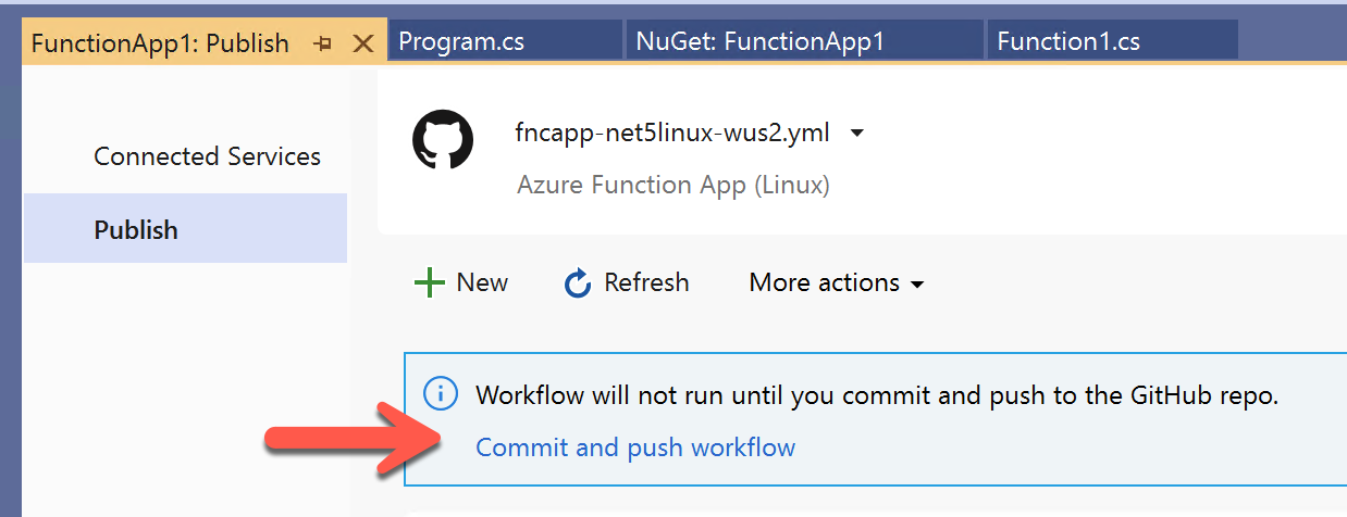 GitHub Actions commit & push